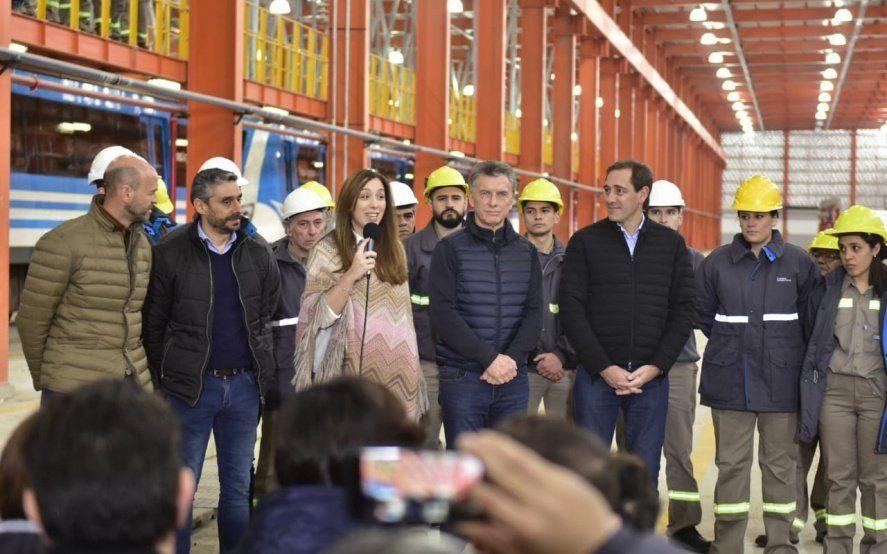 """Vidal inauguró junto a Macri y Garro el taller ferroviario de Tolosa: """"Queremos demostrarnos que se puede"""""""