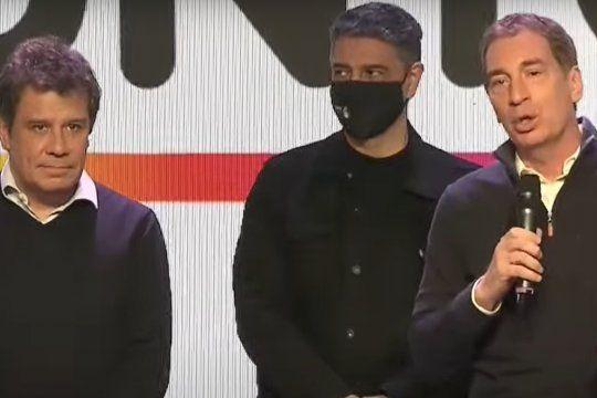 Diego Santilli y Facundo Manes se mostraron juntos tras el cierre de los comicios en las elecciones PASO 2021. Caras largas y tono de derrota.