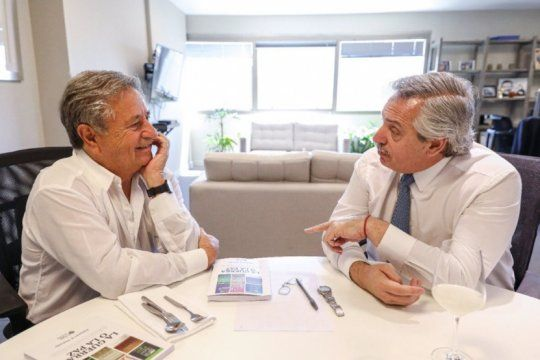 Alberto Fernández y Duhalde charlaron sobre el Consejo Económico y Social (Foto archivo)