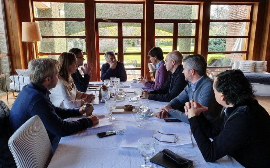 Macri y Vidal se reúnen con Lacunza en la quinta Los Abrojos