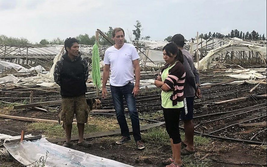 Anuncian créditos blandos para los productores afectados en el temporal de La Plata