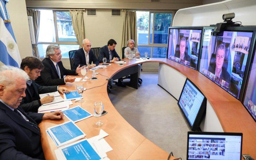 Coronavirus: Alberto Fernández encabeza en Olivos una videoconferencia con gobernadores