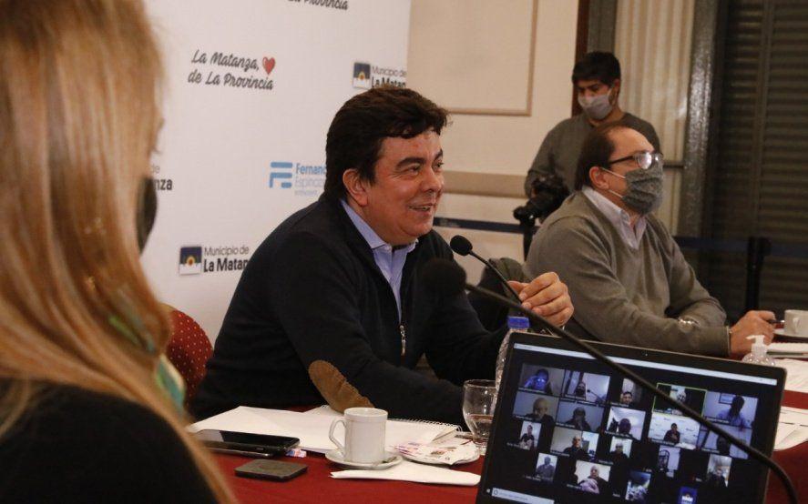 Espinoza, empresarios y la CGT acordaron crear una mesa de diálogo para la reactivación económica