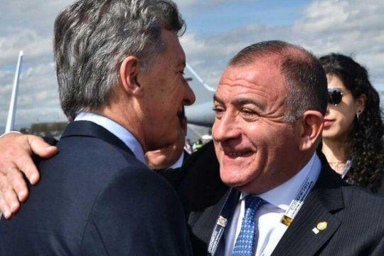 Luis Juez y Mauricio Macri, cuando el cordobés era embajador en Ecuador.