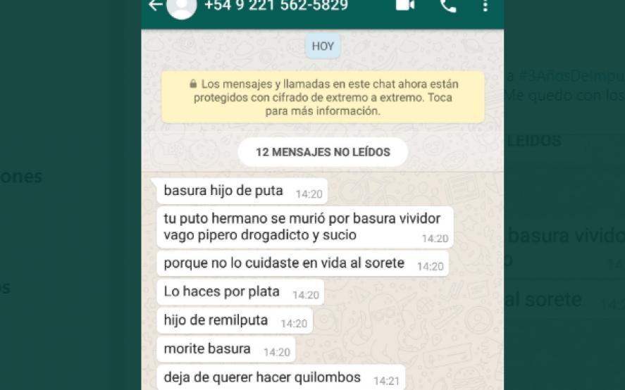 Amenazaron a la familia de Santiago Maldonado desde un teléfono de La Plata