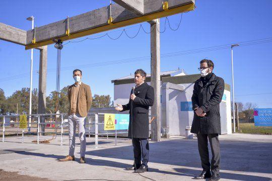 Kicillof encabezó la inauguación de la estación de bombeo en Junín.