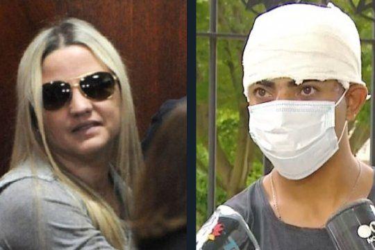 Carolina Píparo y una de las víctimas del atropellamiento. Con el hashtag Fuerza Caro se mezclaron apoyos y burlas