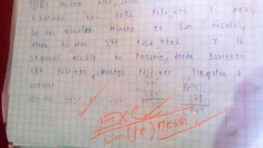Día del Maestro: el docente que calificó con un 10 Messi a un alumno