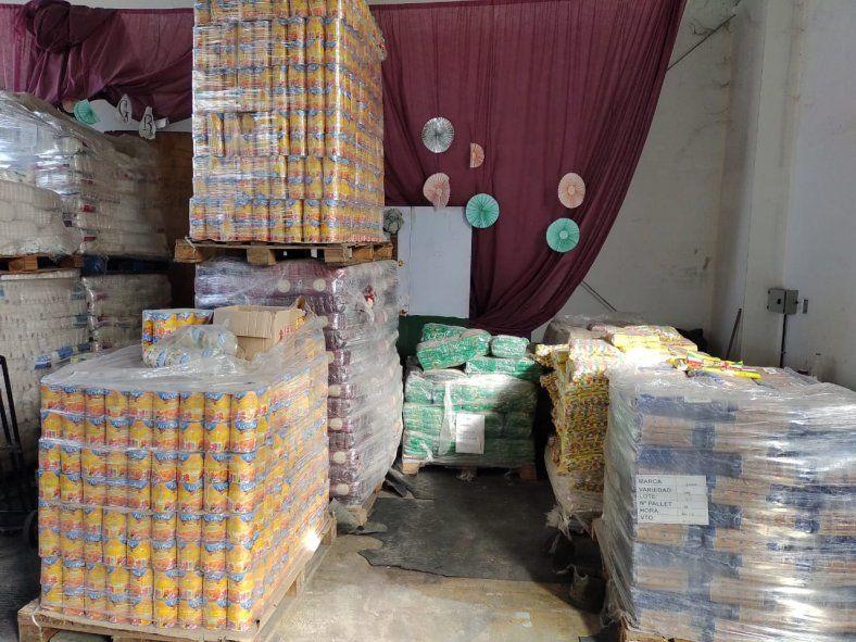 Azul: toneladas de alimentos sin entregar