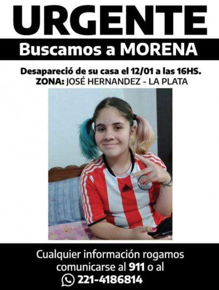 La nena de 13 años fue vista por última vez en su casa de José Hernández, partido de La Plata