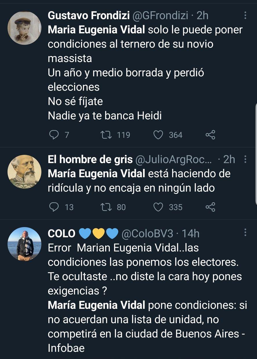 La militancia dura del PRO no acepta que María Eugenia Vidal evite las PASO