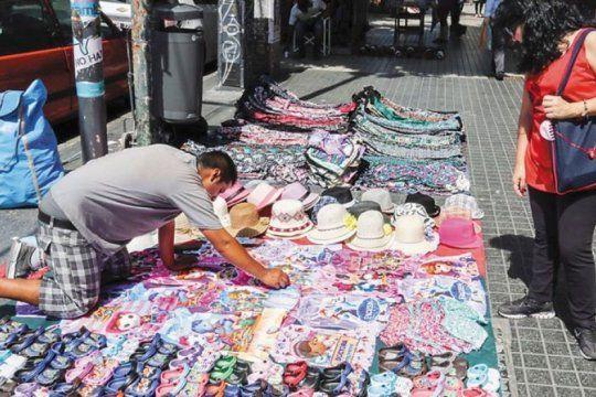 la venta ilegal callejera crecio un 5,4% en el ultimo trimestre de 2018