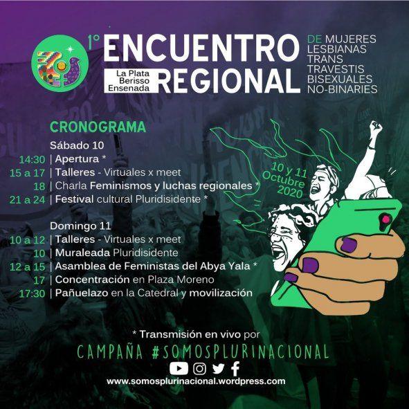 El cronograma del encuentro regional abarca los días sábado 10 y domingo 11 de octubre