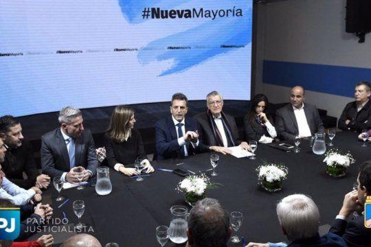 massa y gioja se reunen para cerrar el acuerdo entre el frente renovador y el peronismo