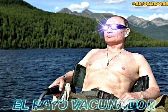 La imagen inicial de Vladimir Putin en el video que muestra a políticos y periodistas argentinos defenestrando a la vacuna por la que ahora se indignan