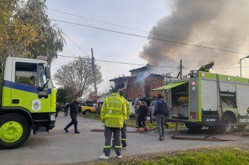 El incendio afectó la casa de una mujer de 51 años en Tolosa