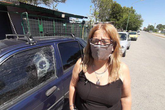Karina, una de las víctimas del ataque vandálico en Ensenada