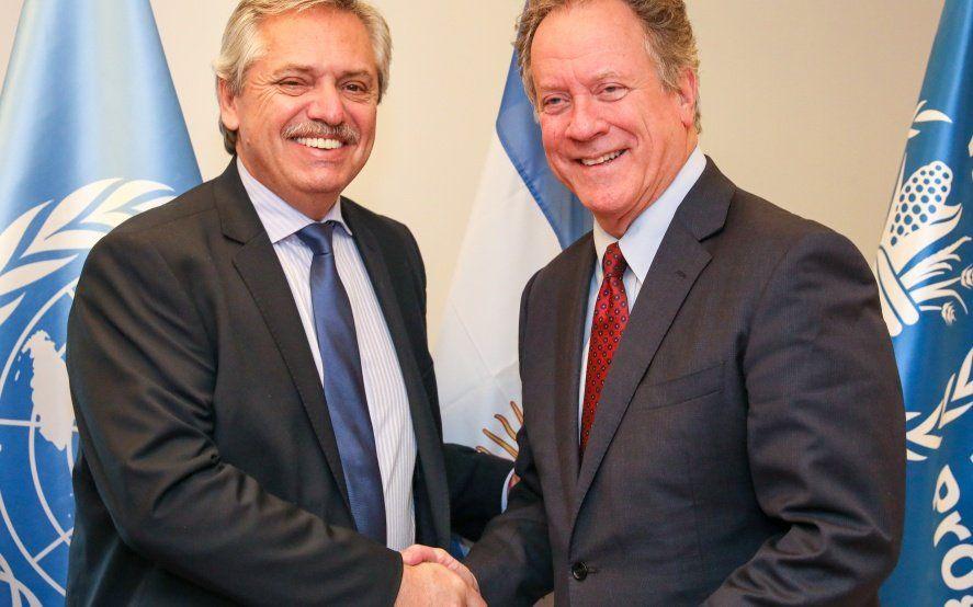 """Fernandez le presentó """"Argentina contra el hambre"""" al director del programa Mundial de Alimentos de la ONU"""