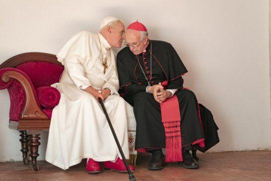 ?los dos papas?: mira el adelanto del film de francisco y benedicto xvi con anthony hopkins y jonathan pryce