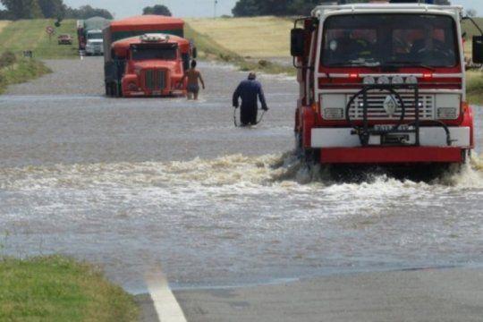 comenzaron las obras en el tramo de la ruta 3 que quedo en mal estado tras una inundacion