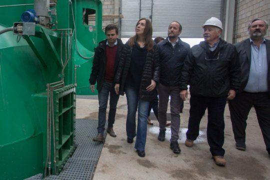 vidal se mostro nuevamente con insaurralde: recorrieron una estacion de bombeo para evitar inundaciones