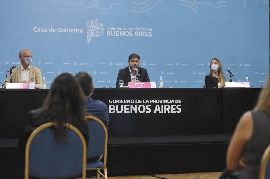 Bianco, Gollán y Vila participaron de la conferencia de prensa sobre la situación epidemiológica de la Provincia.