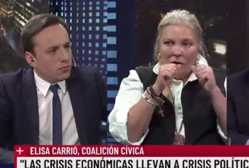 elisa carrio analiza la ira de cristina por la posicion de sus manos