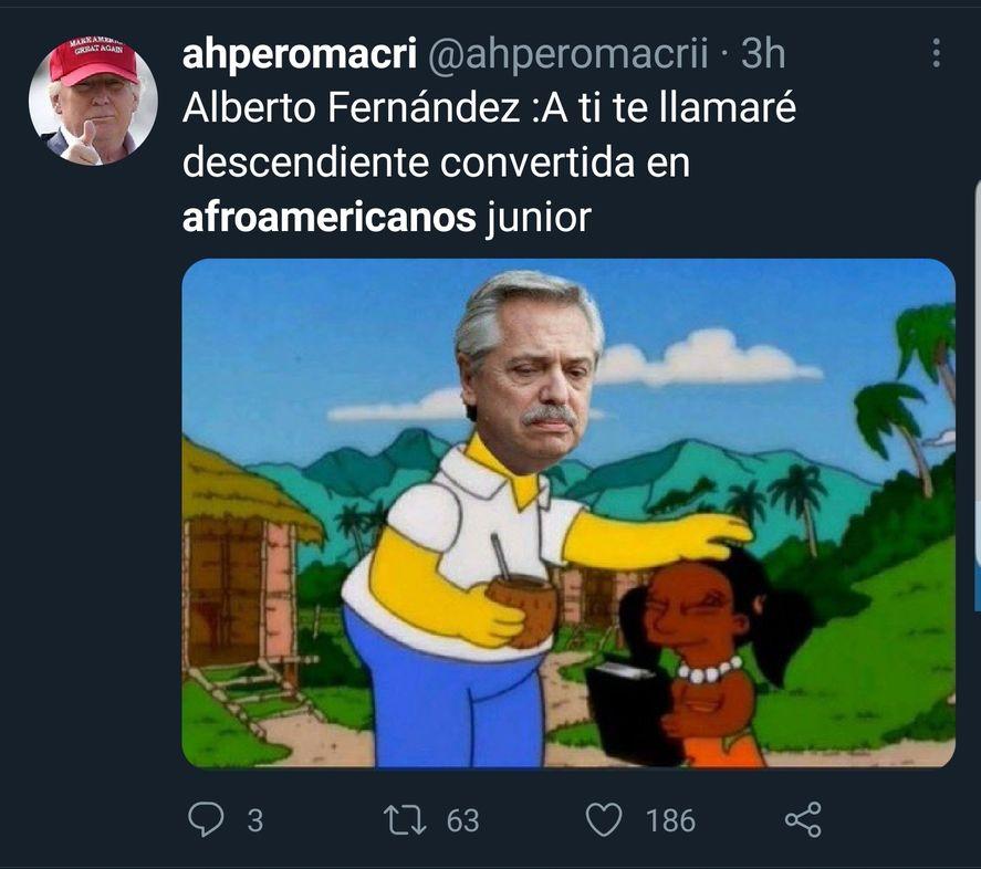 """El Presidente Alberto Fernández y la frase """"tenemos descendientes que se convirtieron en afroamericanos"""", provocó los infaltables memes de Los Simpson"""