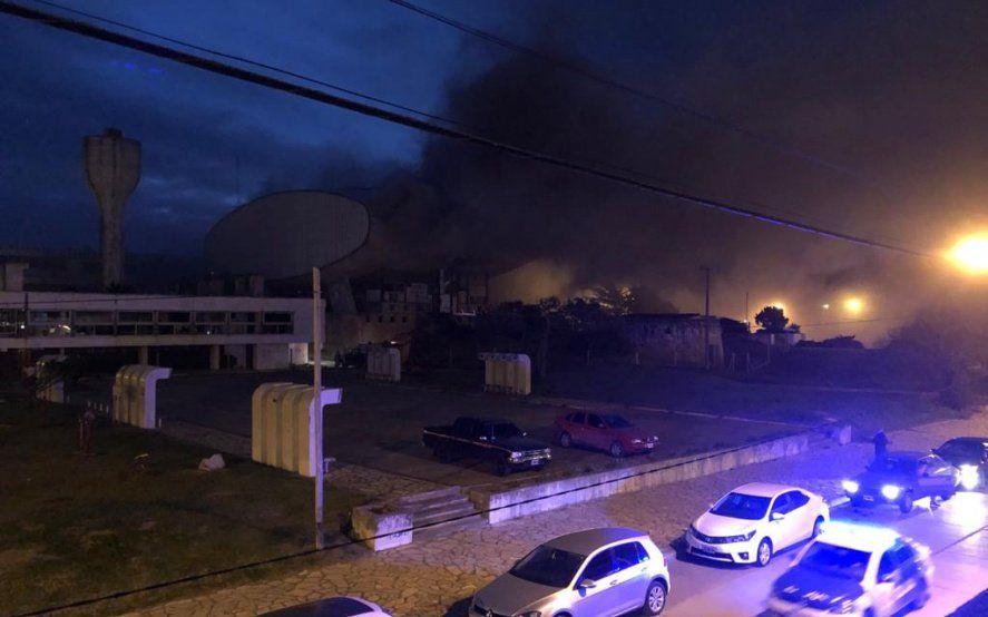 Se incendió el teatro del Casino de Necochea, un ícono de la ciudad