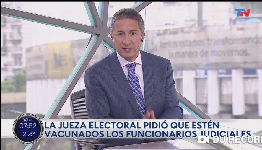El periodista del Grupo Clarín