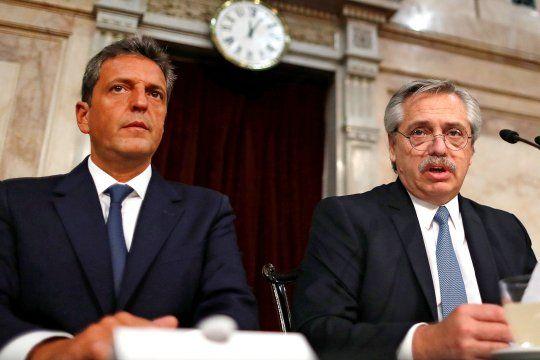 Alberto Fernández y Sergio Massa, con la agenda económica