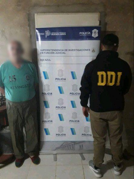 El hombre de 68 años fue detenido en su casa de Tapalqué por la DDI de Azul