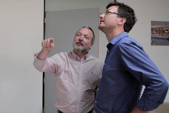 Martín Sabbatella junto a Lucas Ghi, lo que queda de Nuevo Encuentro.