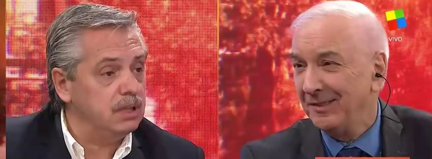 Jonatan Viale uso una falsa chicana contra Alberto Fernández