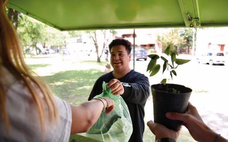 Eco canje: en La Plata cambian residuos secos por plantines, bolsas o compost
