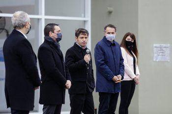 Kicillof encabezó la inauguración de una nueva alcaidía en Florencio Varela. Tiene capacidad para 128 detenidos.