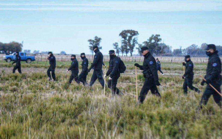 Segundo día de rastrillajes en Villarino para hallar a Facundo Astudillo Castro