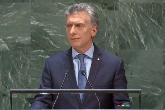 macri en la onu: ?hoy mi prioridad absoluta es ocuparme de los argentinos y llevarles alivio?