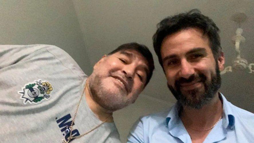 Otros tiempos. Diego Maradona junto a Leopoldo Luque