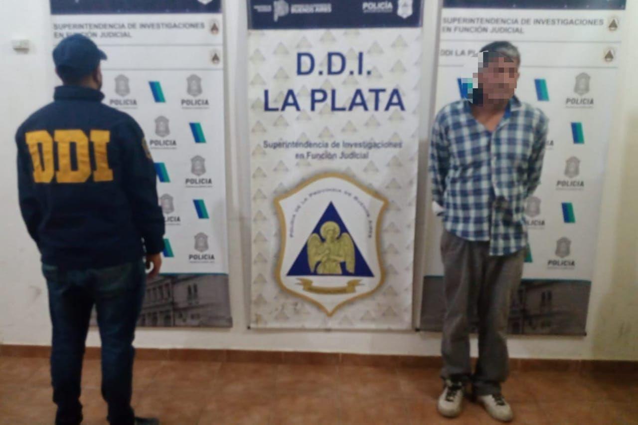 El presunto depravado cayo en la zona de 29 y 525 en La Plata