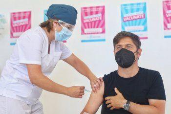 Axel Kicillof fue el cuarto bonaerense en recibir la vacuna contra el coronavirus.