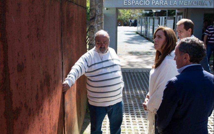 """Vidal recorrió con Garro un Espacio de la Memoria y pidió """"Nunca Más"""