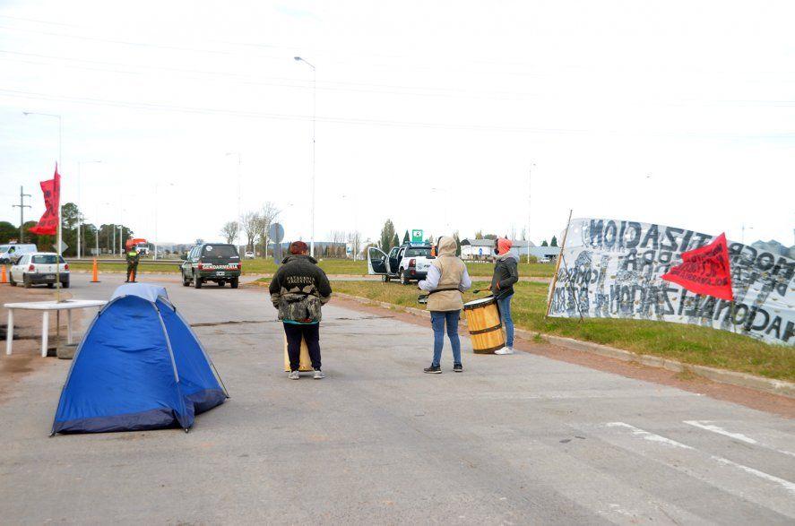 Olavarría: Uno de los piquetes que se llevaron a cabo en las rutas de la provincia