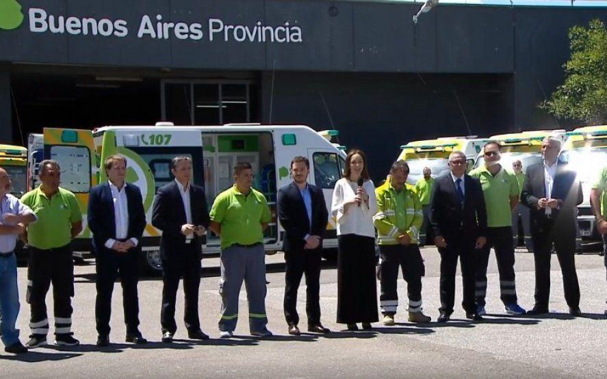 La gobernadora Vidal anunció la ampliación del SAME a nuevos municipios bonaerenses