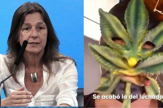 cara de cannabis: sabina frederic opino sobre la detencion del villano enmascarado de berni