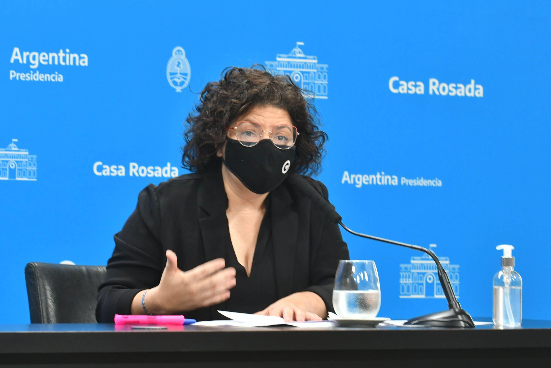 Carla Vizzoti, ministra de Salud Pública de la Nación
