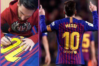 Conmebol envió tres camisetas de Messi en agradecimiento por 50 mil vacunas.
