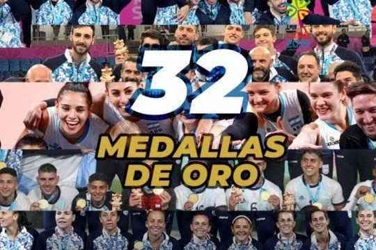 juegos panamericanos: record de medallas de oro para argentina