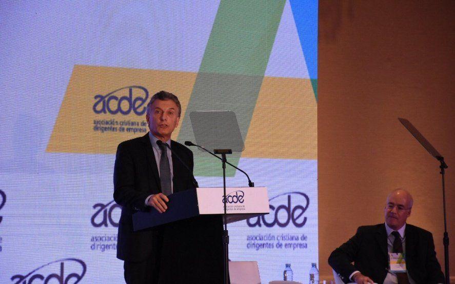 """Macri con empresarios cristianos: """"Si no estamos integrados al mundo, hoy no tenemos futuro como país"""""""