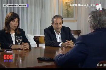 Alberto Fernandez, Ernesto Tenembaum y María ODonnel durante la entrevista